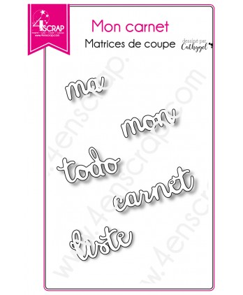 Matrice de coupe Scrapbooking Carterie mot to do liste - Mon carnet