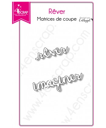Cutting die Scrapbooking Card making word imagine - Dream