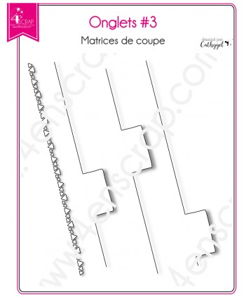 Matrice de coupe Scrapbooking Carterie carnet rectangle - Onglets 3