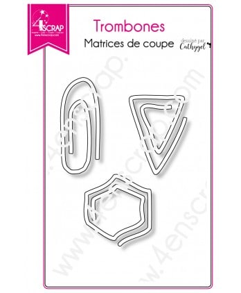Matrice de coupe Scrapbooking Carterie agenda épingle - Trombones