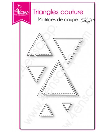 Matrice de coupe Scrapbooking Carterie forme - Triangles couture