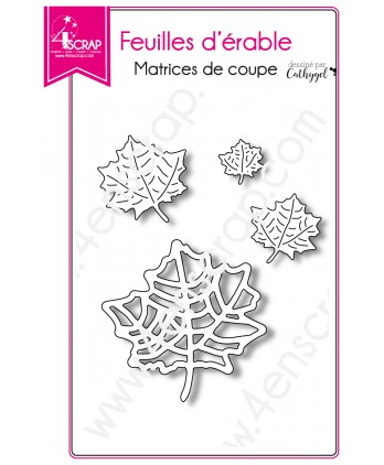 Matrice de coupe Scrapbooking Carterie nature arbre - Feuilles d'érable