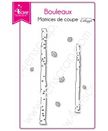 Matrice de coupe Scrapbooking Carterie arbre nature - Bouleaux