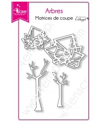 Matrice de coupe Scrapbooking Carterie nature graphique - Arbres