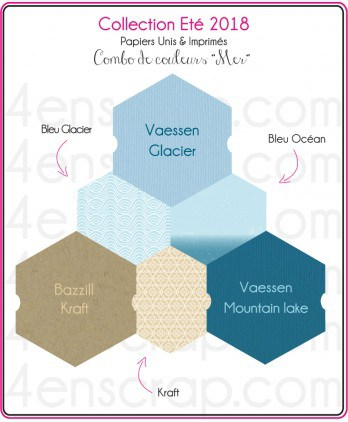 Papier uni Scrapbooking Carterie - Vaessen Mountain Lake