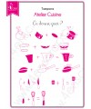 Clear stamp Scrapbooking Card Making kitchen - Cooking workshop