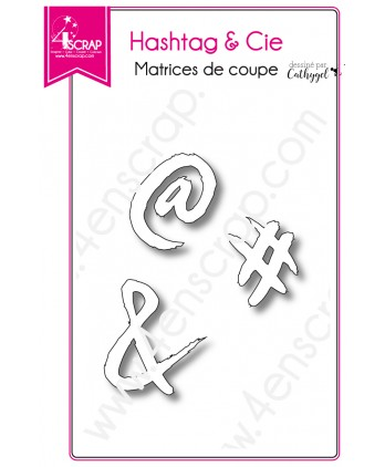 Matrice de coupe Scrapbooking Carterie éperluette at - Hashtag & Cie