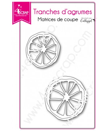 Matrice de coupe Scrapbooking Carterie fruit orange citron - Tranches d'agrumes
