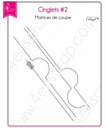 Matrice de coupe Scrapbooking Carterie intercalaire rond - Onglets 2