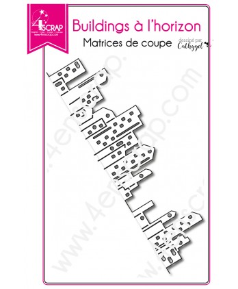 Matrice de coupe Scrapbooking Carterie ville bordure - Building à l'horizon