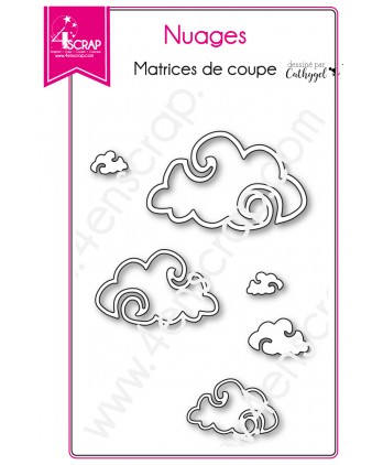Matrice de coupe Scrapbooking Carterie ciel avion - Nuages