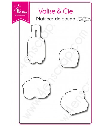 Matrice de coupe Scrapbooking Carterie appareil photo - Valise & Cie