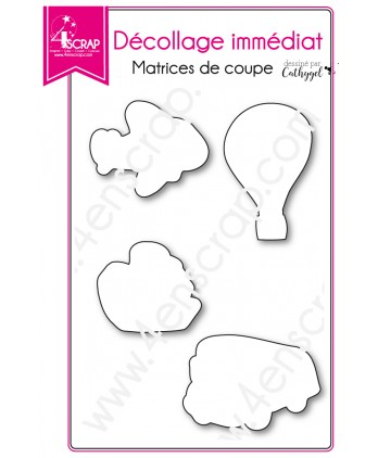 Matrice de coupe Scrapbooking Carterie transport avion - Décollage immédiat