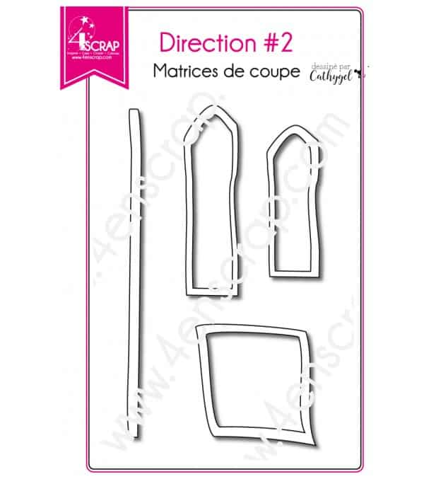 Matrice de coupe Scrapbooking Carterie étiquette pancarte - Direction 2