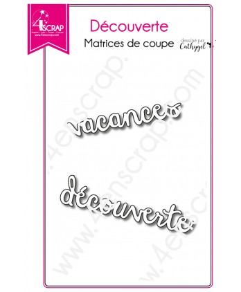 Cutting die Scrapbooking Card making holiday word - Discovery