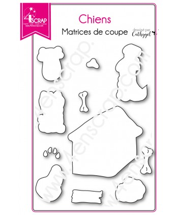 Cutting die Scrapbooking Card making animal bone doghouse - Dogs