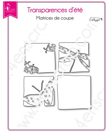 Cutting die Scrapbooking Card making dragonfly ladybug butterfly - Summer transparencies