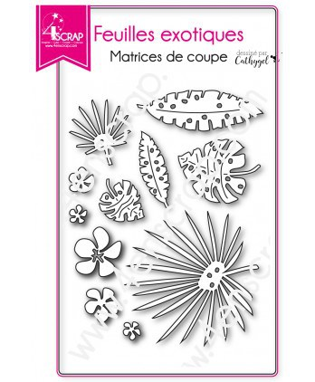 Cutting die Scrapbooking Card making banana nature - Exotic leaves