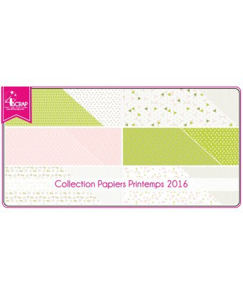 Pack Papier Imprimé Scrapbooking Carterie - Printemps 2016