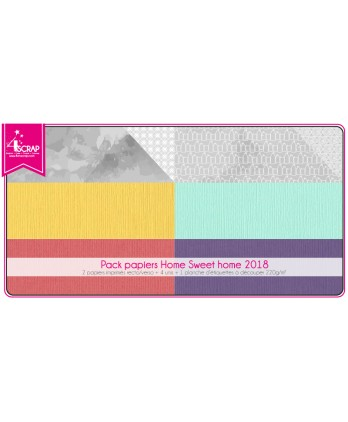 Pack Papier Scrapbooking Carterie - Home Sweet Home