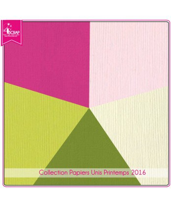 Pack Papier Uni Scrapbooking Carterie - Printemps 2016