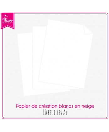 Plain Paper Scrapbooking card making - White in Snow Paper 10 sheets A4