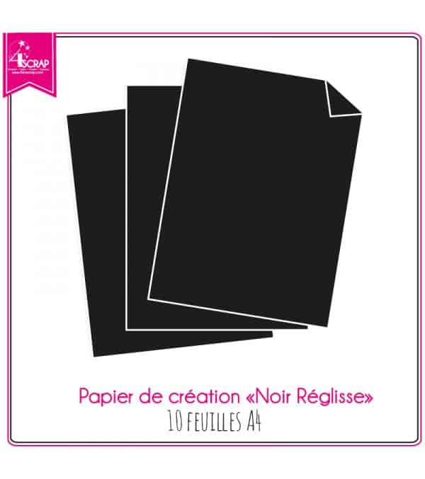 Black Licorice Paper - 10 sheets