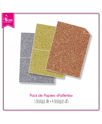 Glitter papers pack