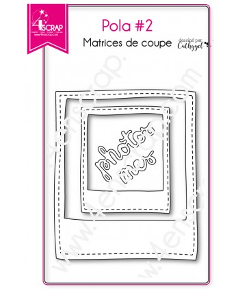 Matrice de coupe Scrapbooking Carterie mot photo couture - Pola 2