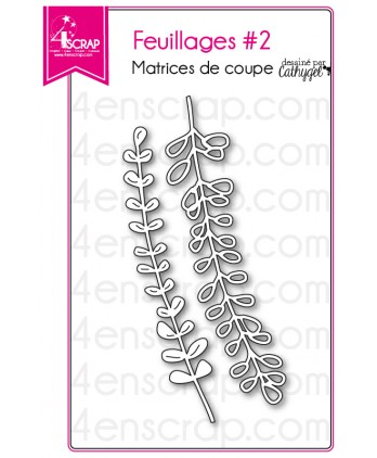 Matrice de coupe Scrapbooking Carterie feuille - Feuillages 2