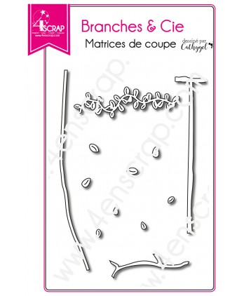 Matrice de coupe Scrapbooking Carterie feuille nature - Branches & Cie