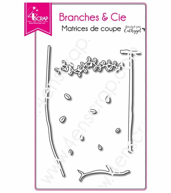 Cutting die Scrapbooking Card leaves natures -  Branches & Co