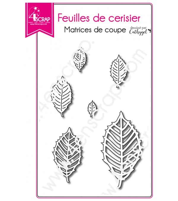 Matrice de coupe Scrapbooking Carterie nature - Feuilles de cerisier