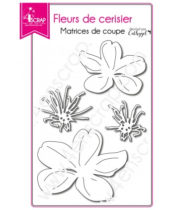 Cutting die Scrapbooking Card nature - Cherry blossoms