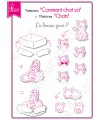 Matrice de coupe Scrapbooking Carterie carton - Chats
