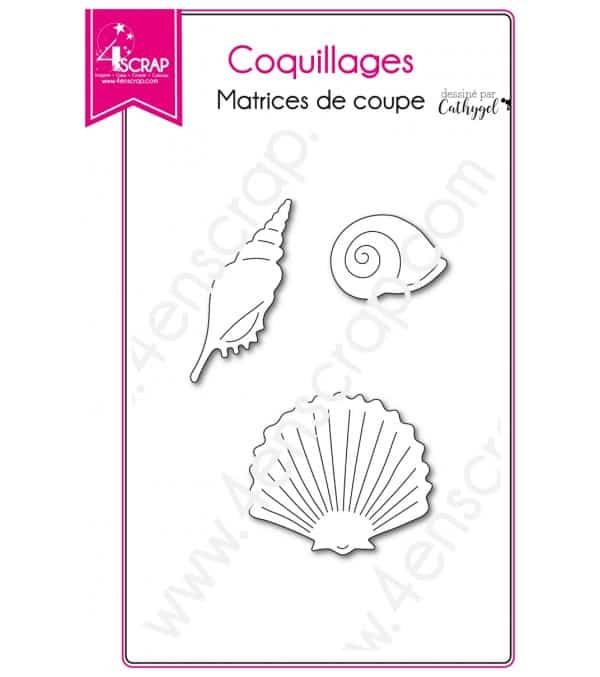 Matrice de coupe Scrapbooking Carterie animal mer - Coquillages