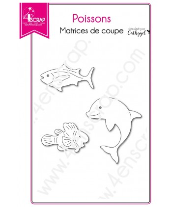 Cutting die Scrapbooking Card making dolphin animal - Fishes