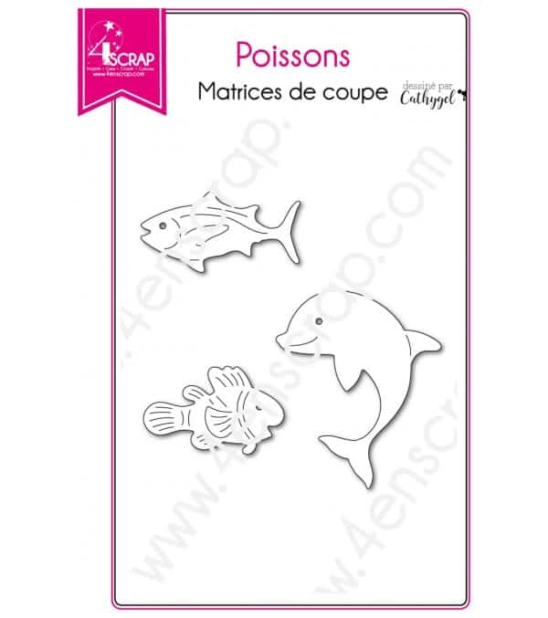 Matrice de coupe Scrapbooking Carterie dauphin animal - Poissons