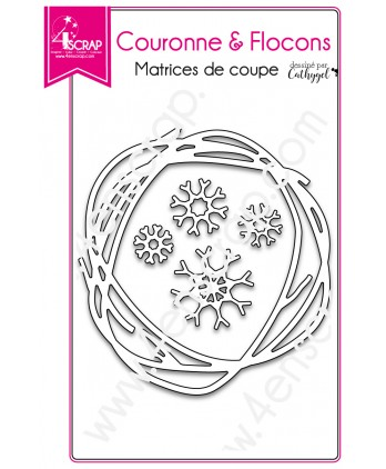 Cutting die Scrapbooking Card making winter - Crown and snowflakes