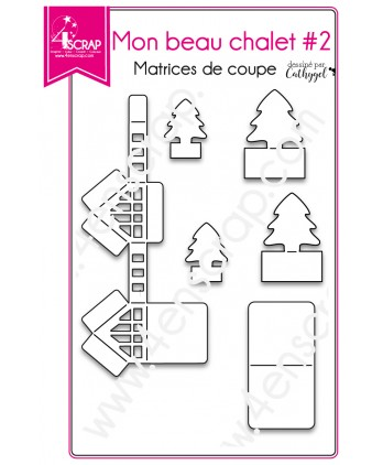 Cutting die Scrapbooking Card making  3D box - My nice chalet 2