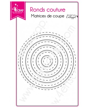 Matrice de coupe Scrapbooking Carterie - Ronds couture
