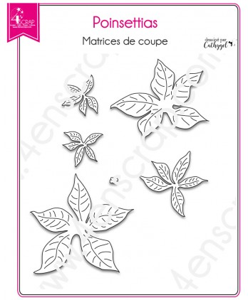 Cutting die Scrapbooking Card Making Flower- Poinsettias