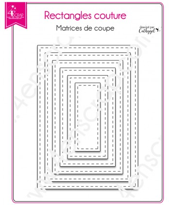 Matrice de coupe Scrapbooking Carterie bordure - Rectangles couture