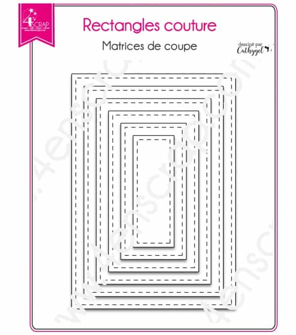 Stiched rectangles