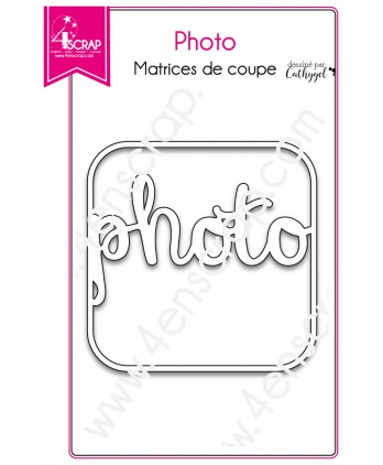Cutting die Scrapbooking Card making word frame - Photo
