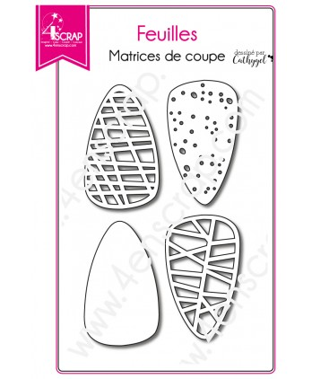 Matrice de coupe Scrapbooking Carterie arbre nature - Feuilles