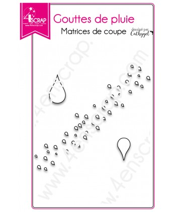 Cutting die Scrapbooking Card making rain - Raindrops