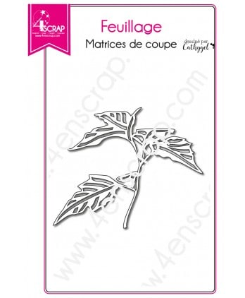 Matrice de coupe Scrapbooking Carterie  nature - Foliage