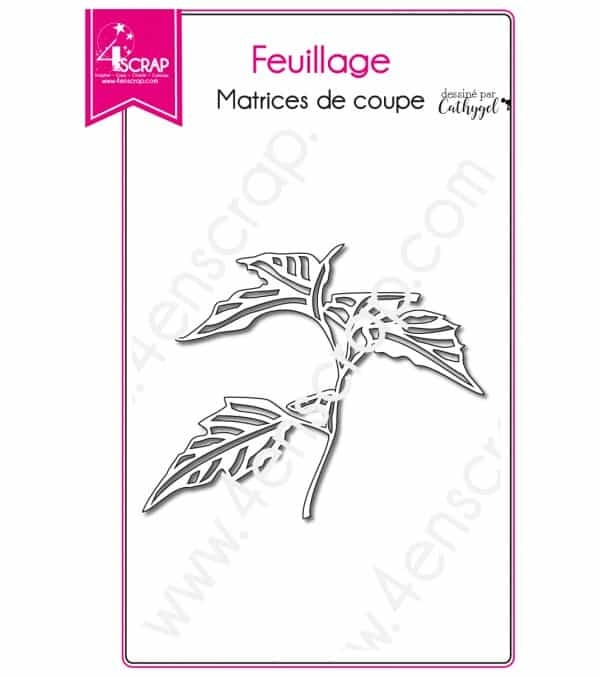 Matrice de coupe Scrapbooking Carterie nature - Feuillage