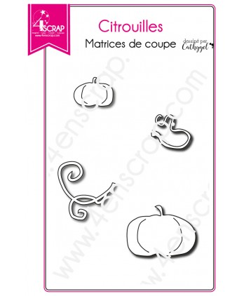 Matrice de coupe Scrapbooking Carterie fruit - Citrouilles